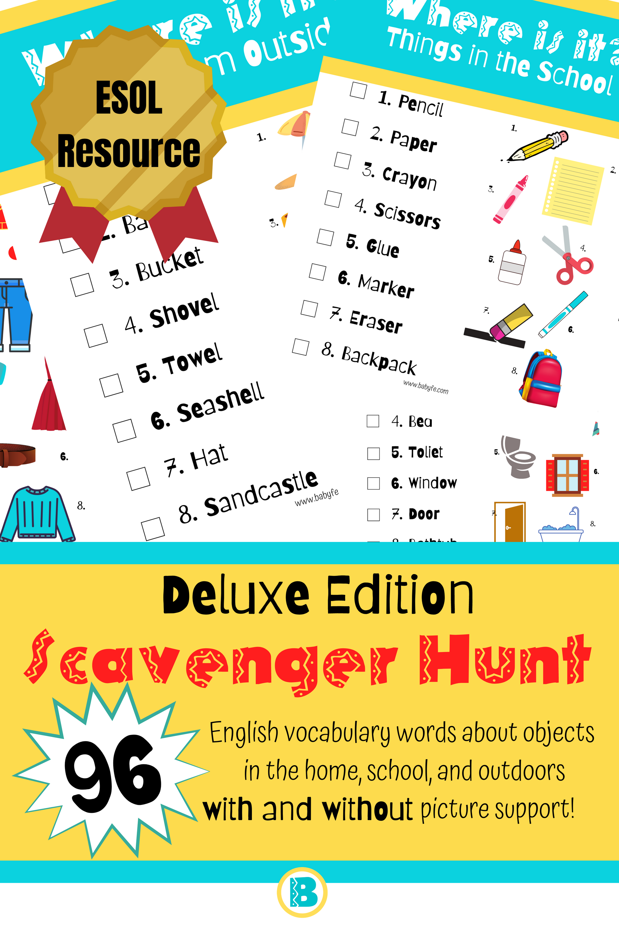 Vocabulary Activity For Early English Language Learners