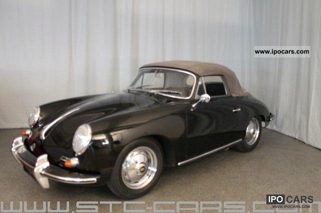 Porsche 356 W 1600 S Convertible Origm Certificate 1963 Vintage Classic And