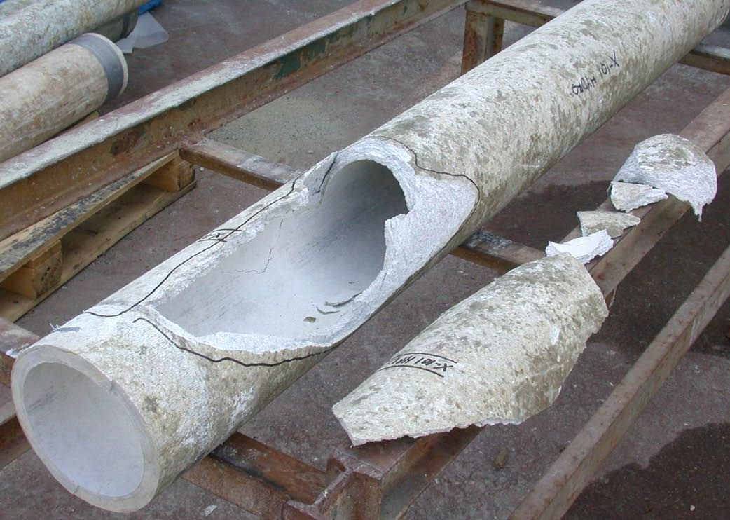 Cement Mortar Leaching Observed On An Ac Pipe Sub Sample