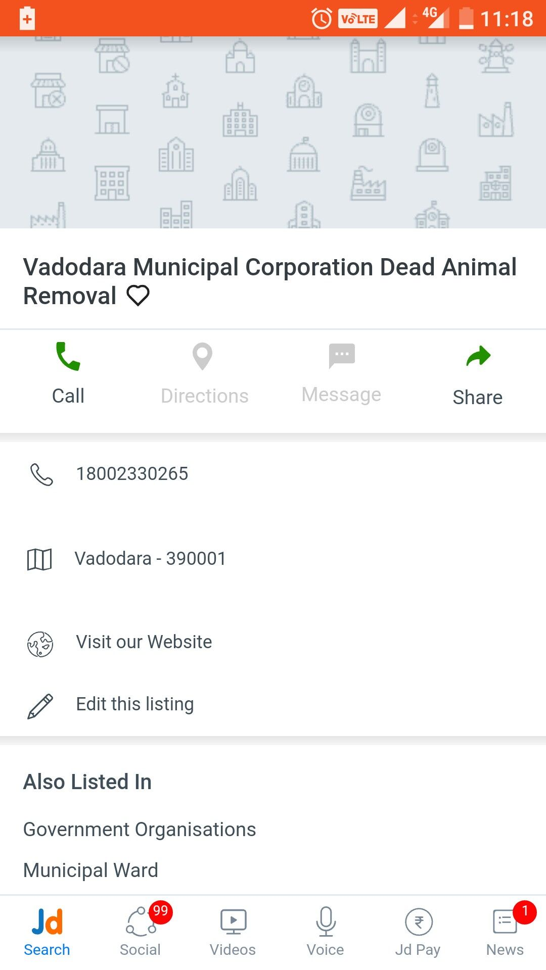 Roadkill How to remove, Messages, Municipal corporation