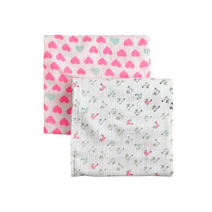 Swaddling And Receiving Blankets Gorgeous Aden  Anais® For Crewcuts Swaddle Blankets Twopack  Oh Baby Decorating Design