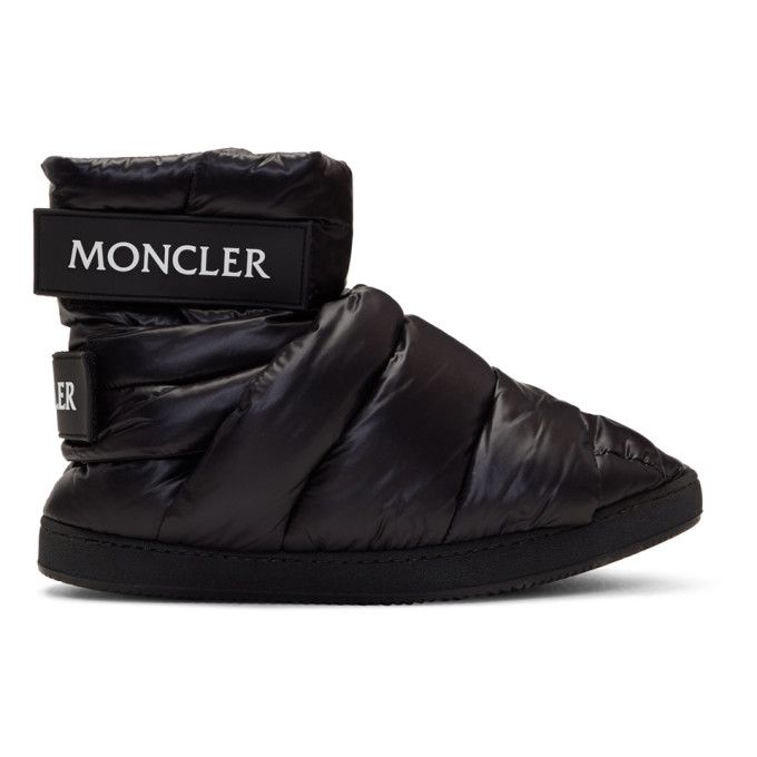 dba41f164205d Moncler C - Black Puffer High-Top Sneakers | Shoes in 2019 | High ...