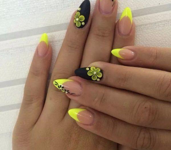 Nail art jaune de belle couleur pour 2019 | Nageldesigns.info