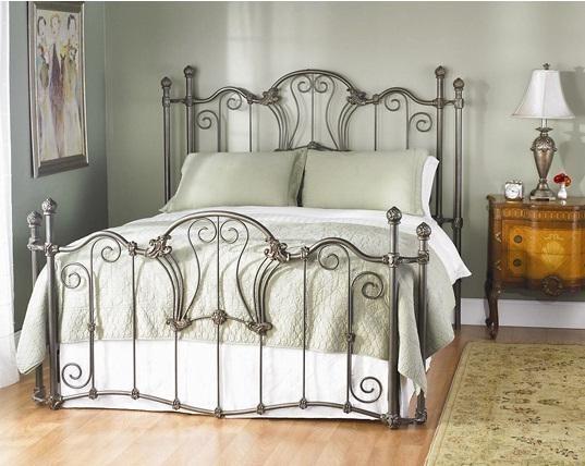 Interlude Queen Size Bed Iron Beds, Wesley Allen Furniture