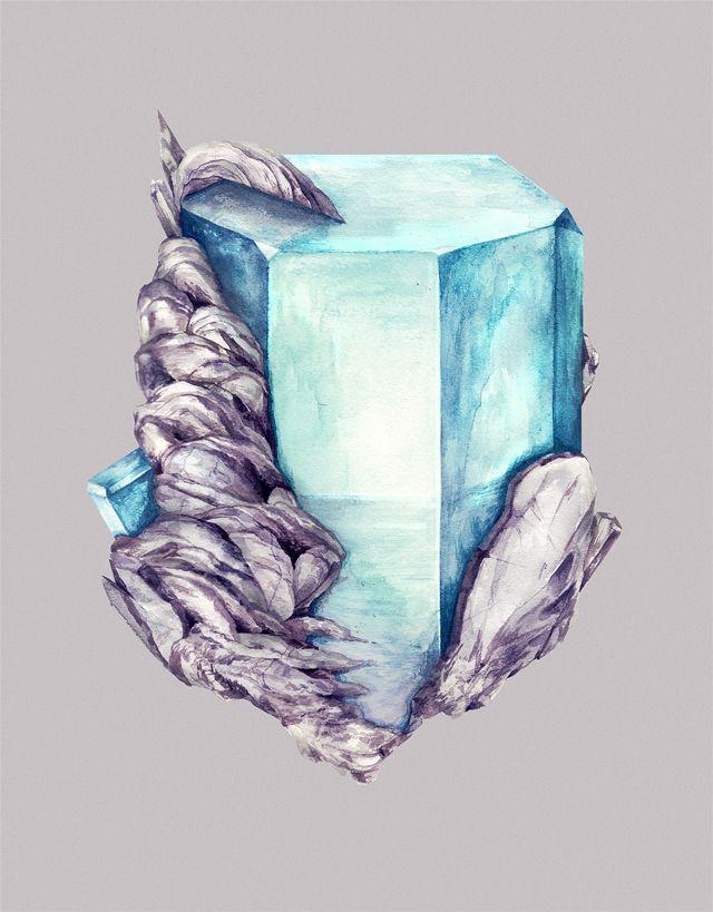 Big trend twist on the geometric .... precious stones
