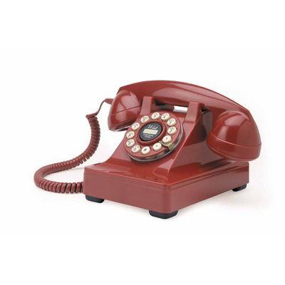 Home Decor ~ Crosley Crosley 302 Classic Red Desk Phone