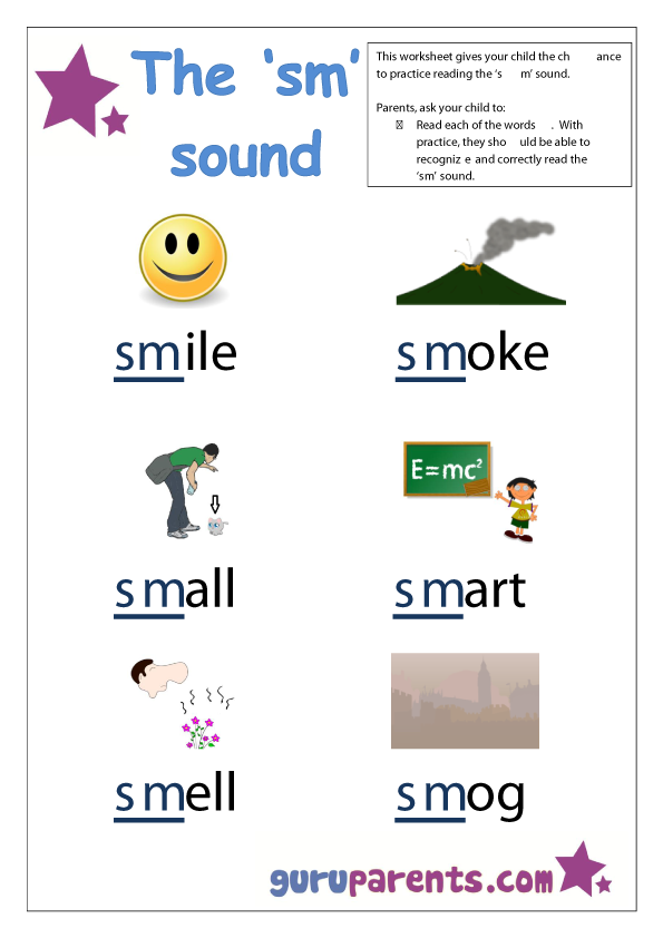Beginning Sounds Worksheets  Words    Worksheets