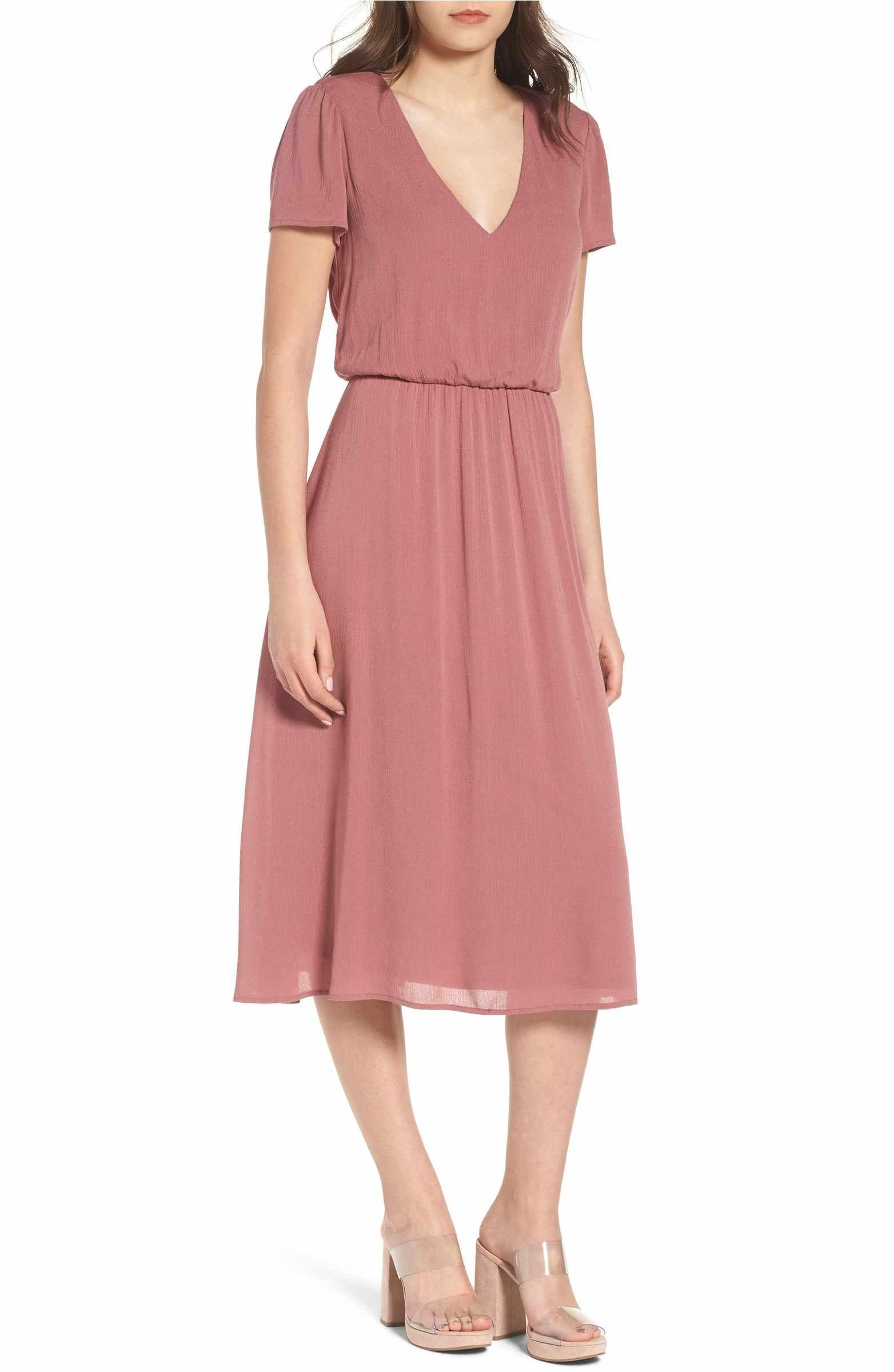 53bfacea88eb Main Image - WAYF Blouson Midi Dress