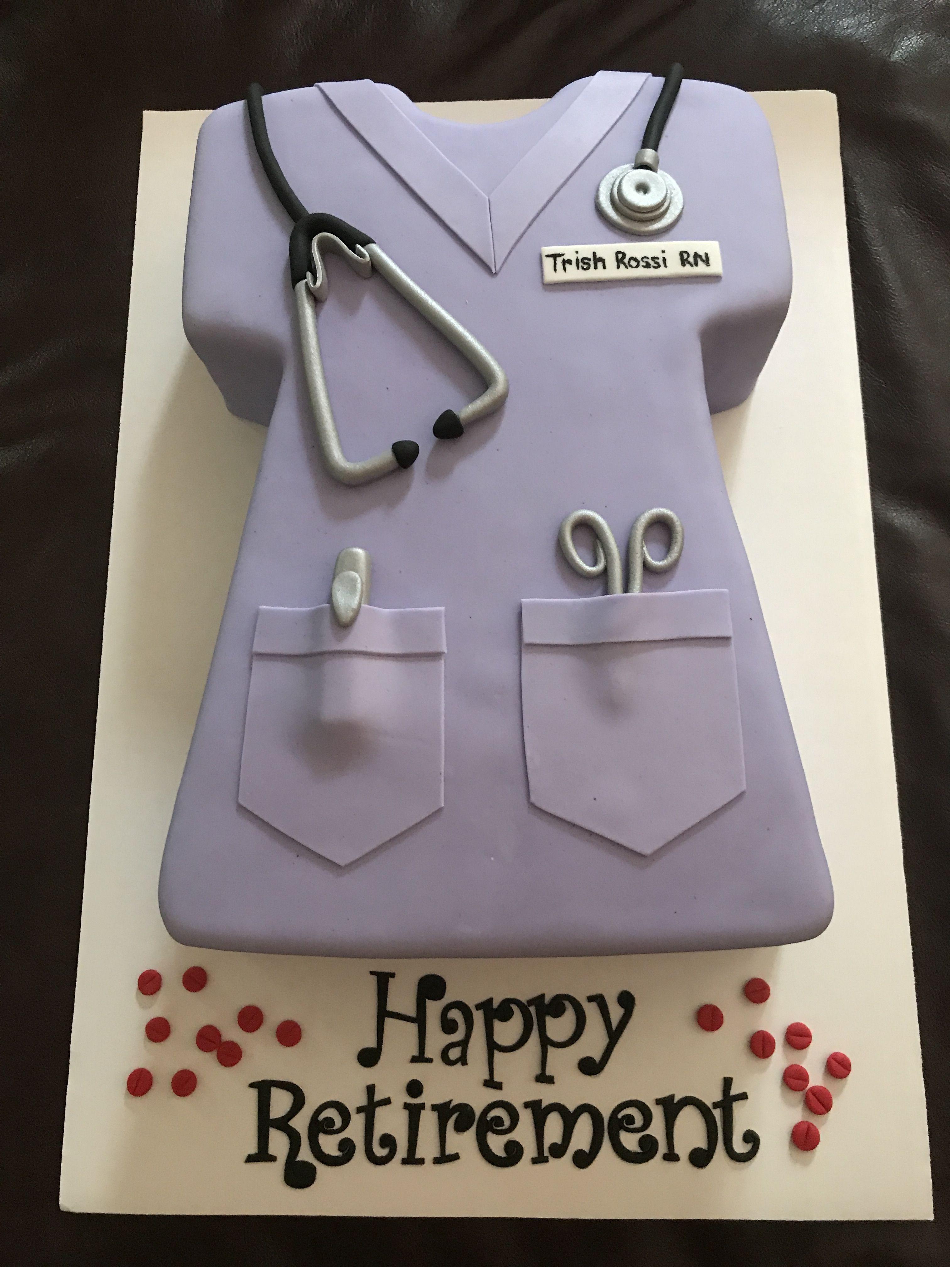 Nurse Scrubs Retirement Cake