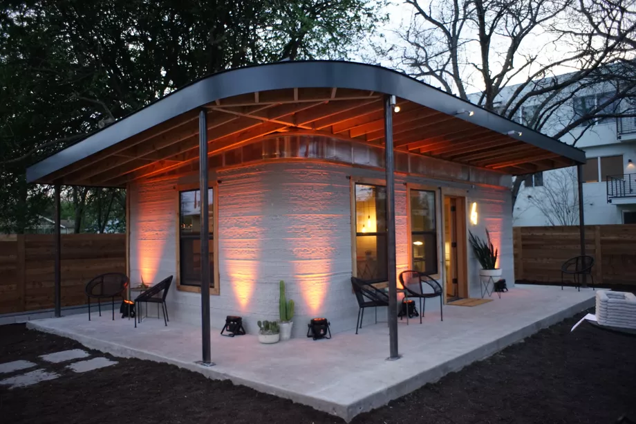 This Cheap 3d Printed Home Is A Start For The 1 Billion Who Lack Shelter With Images Beach House Artwork Affordable Housing
