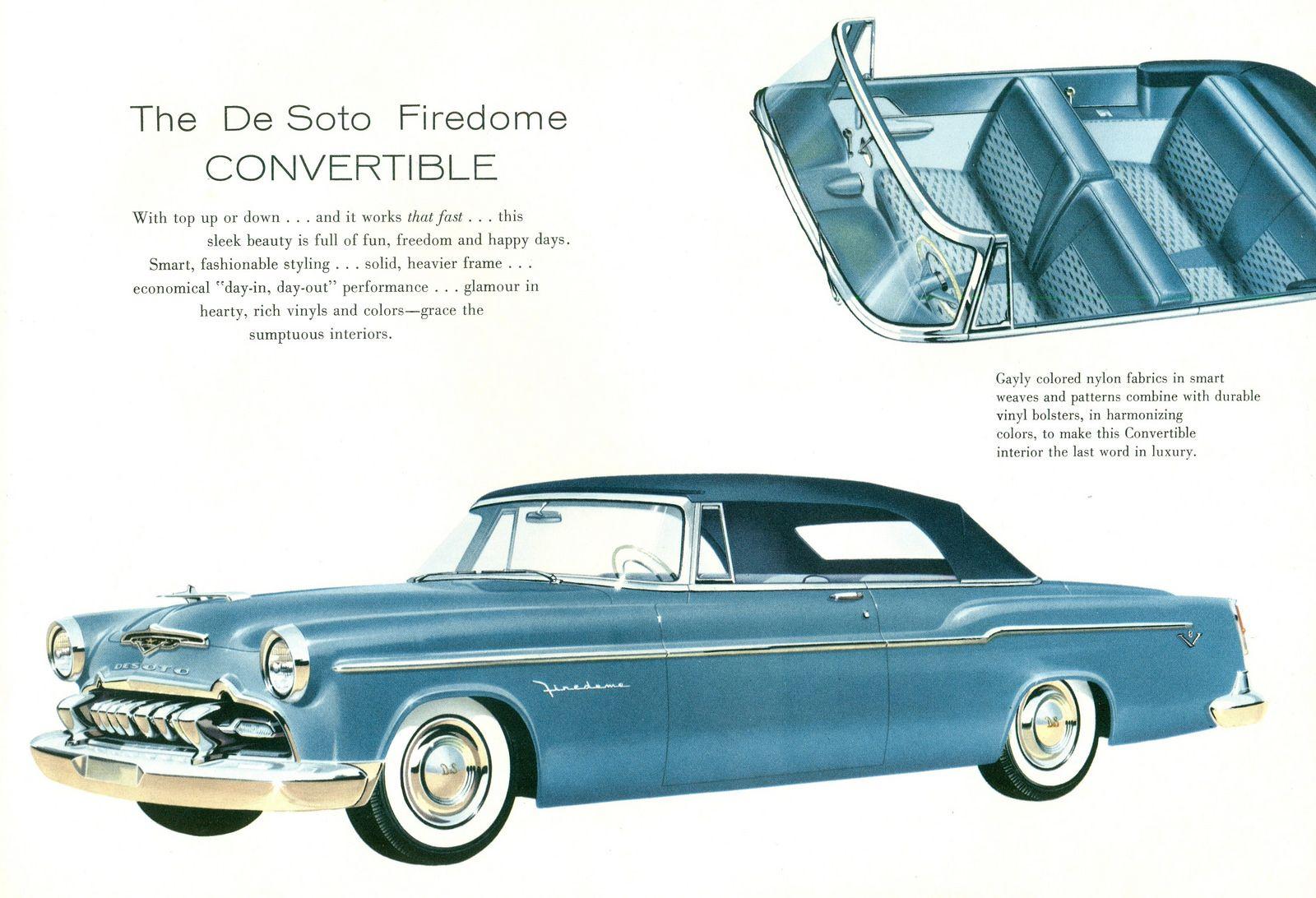 1955 De Soto Firedome Convertible Desoto Firedome Chevy Sports Cars Desoto Cars