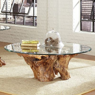 Hidden Treasures Root Ball Coffee Table  Stump Table Cabin And Cool Tree Trunk Dining Room Table Decorating Inspiration