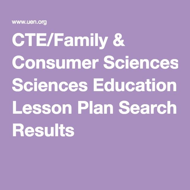Great free lesson plans! Becky CTE/Family & Consumer Sciences ...
