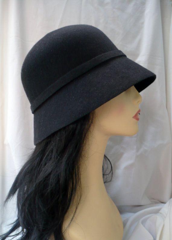 8a14f115a8e12 Sombrero Cloché Sombrero años 20 Sombrero por LidiaArtThings