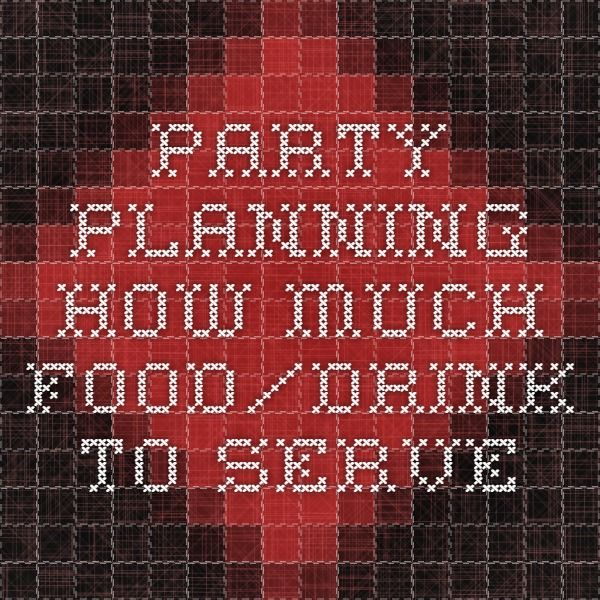 Party Planning- How Much Food/drink To Serve