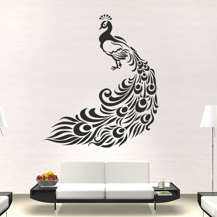 Details About Peacock Bird Animal Wall Art Stickers Wall Decal - Wall stickers art