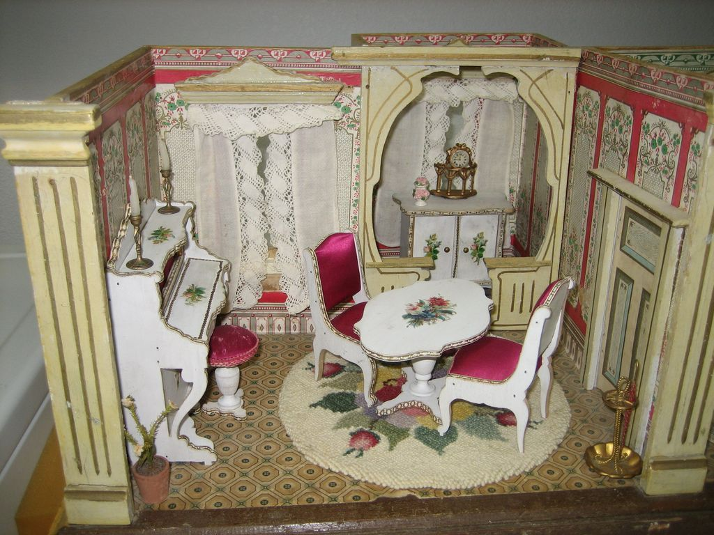 Rare U0026 Unusual Antique German Room Box Box Paper Litho Furnished Boule  Ormolu | Miniatures | Pinterest | Doll Houses, Dollhouses And Dolls
