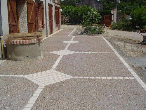 terrasse beton desactive et bois l jardins. Black Bedroom Furniture Sets. Home Design Ideas