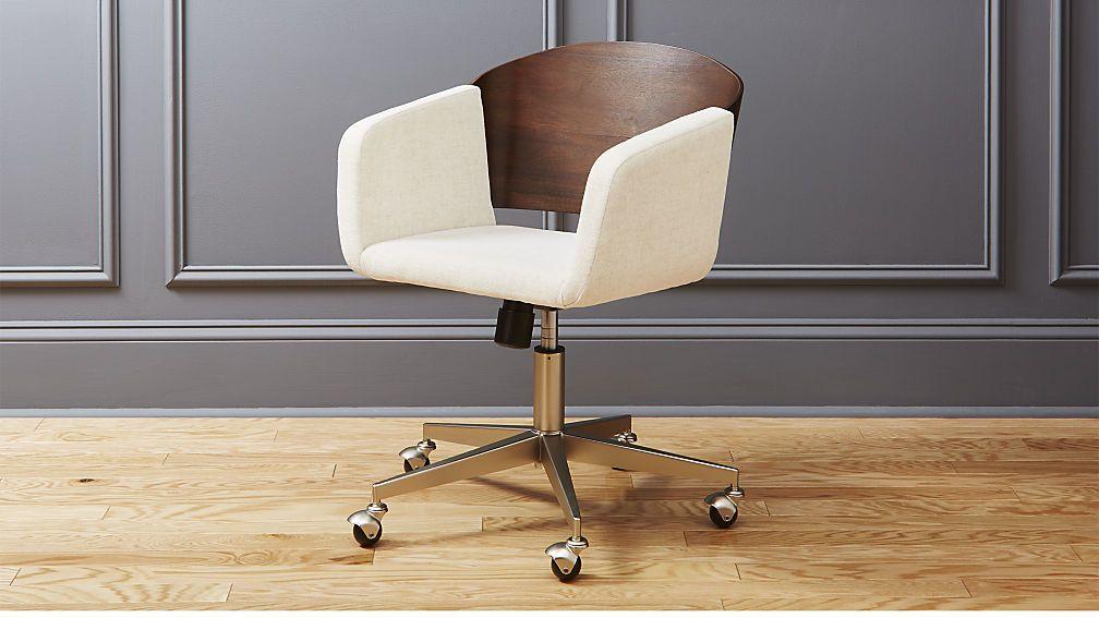 Fillmore Office Chair Cb2 Modern Office Chair Modern Home Office Furniture Office Chair Makeover