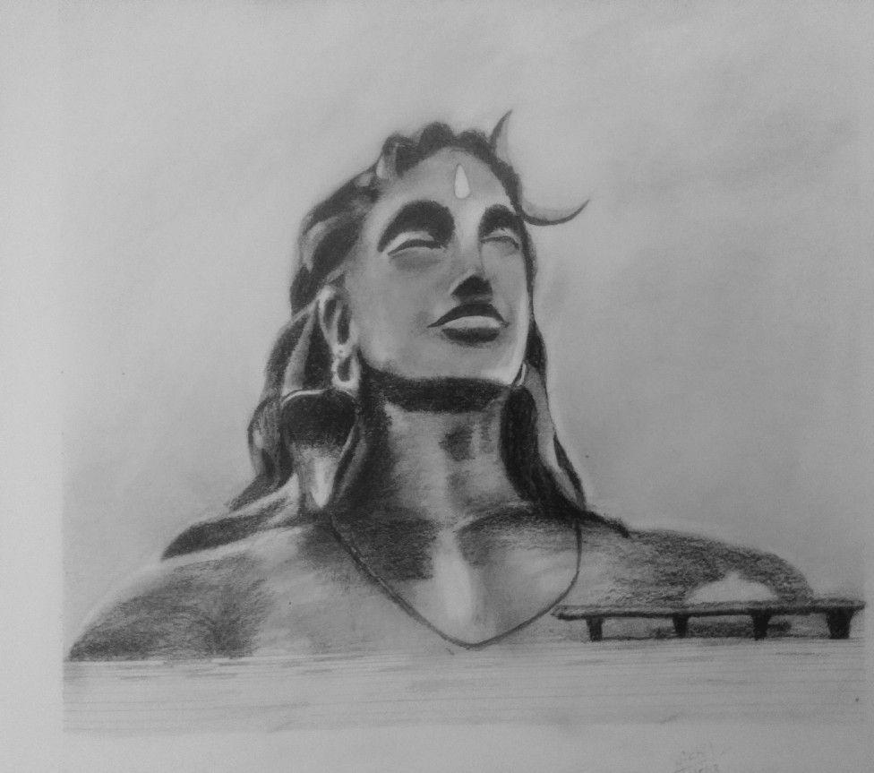 Adiyogi drawing by nikhil in 2019 drawings sketches art