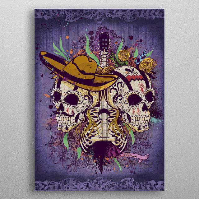 Day of the dead by Selket Yhay | metal posters - Displate | Displate thumbnail