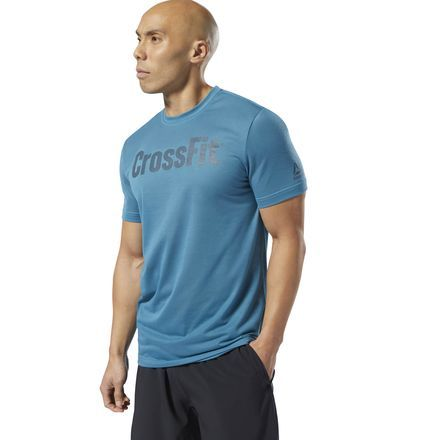 9267d7ffc6 Reebok Men's CrossFit Speedwick F.E.F. Graphic T-Shirt in Mineral ...