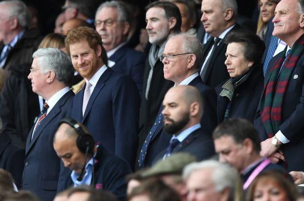 Prince Harry Photos Photos - Prince Harry (L) and Princess Anne (R) looks on from the stands during the RBS Six Nations match between England and Scotland at Twickenham Stadium on March 11, 2017 in London, England. - England v Scotland - RBS Six Nations