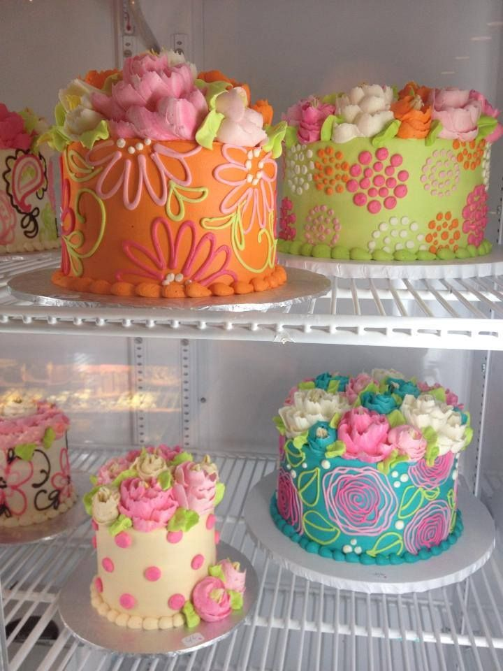 colorful cakes white flower cake shoppe Cake Decorating