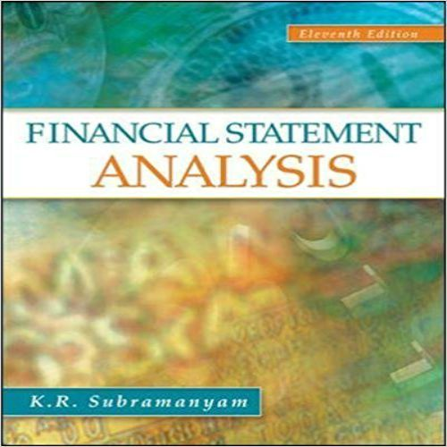 Test Bank For Financial Statement Analysis Th Edition By