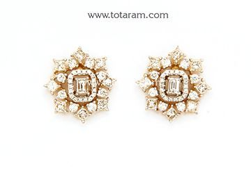 Cool Diamond Earrings For Women In 18k Gold Der791 Indian Jewelry From