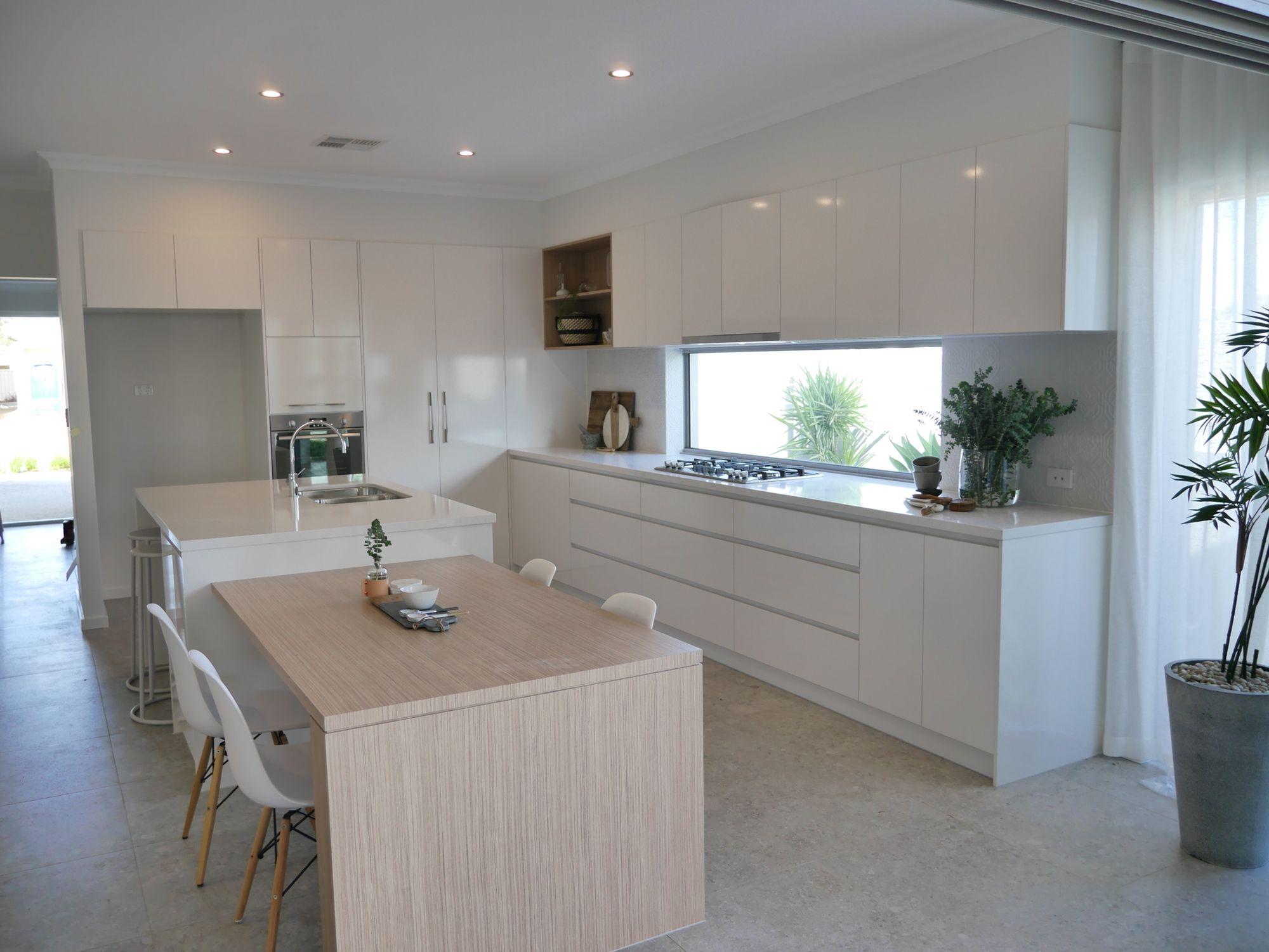 Contemporary coastal kitchen, essastone benchtops, Polar ...