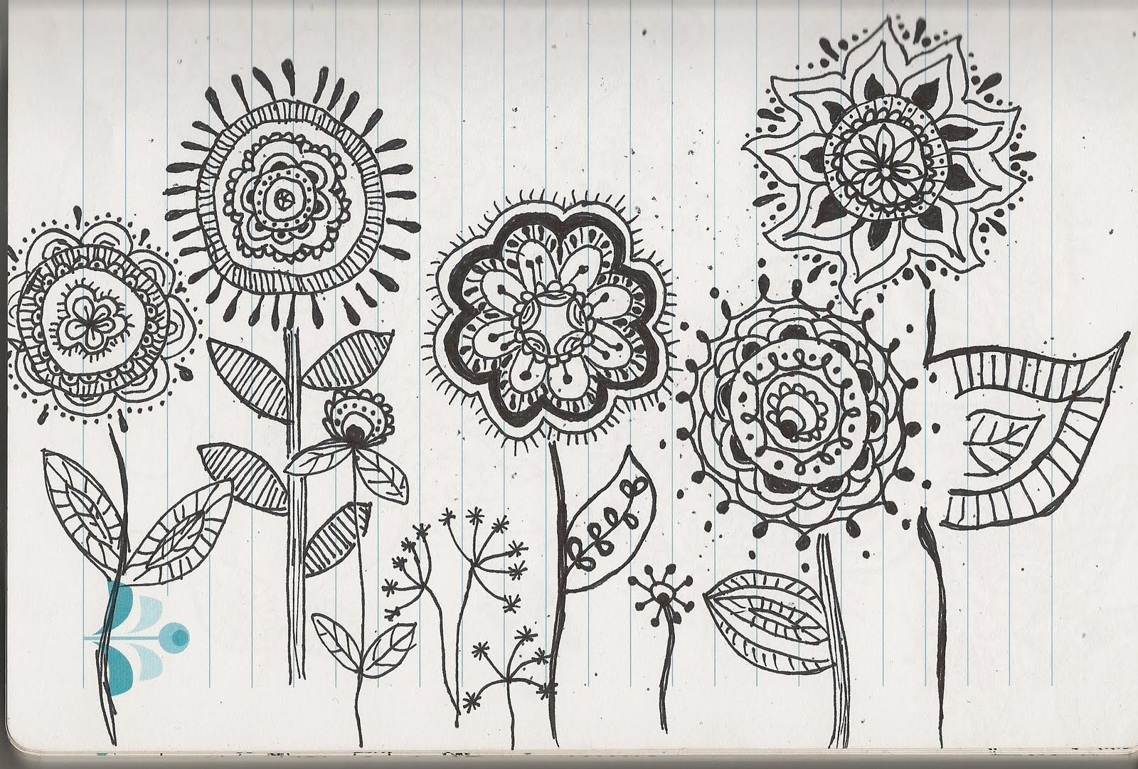 Cool Flower Garden Drawing Creative Drawing Pinterest Doodles