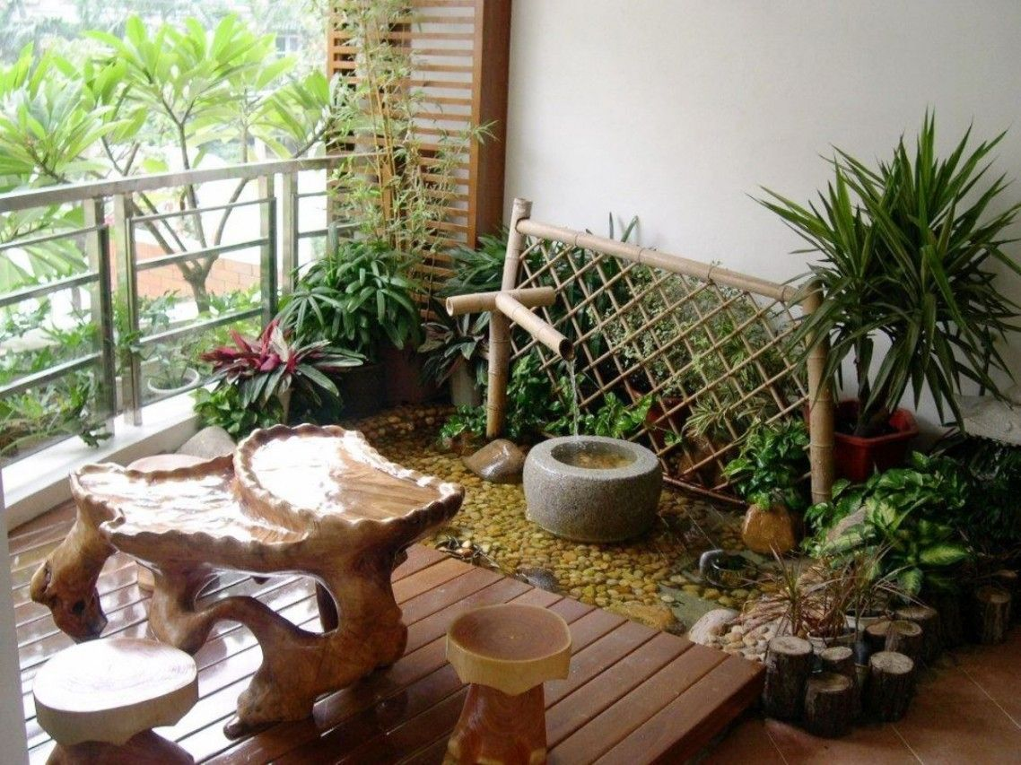 Balcony Garden Design With Friendly Balcony Carrying Small Japanese ...