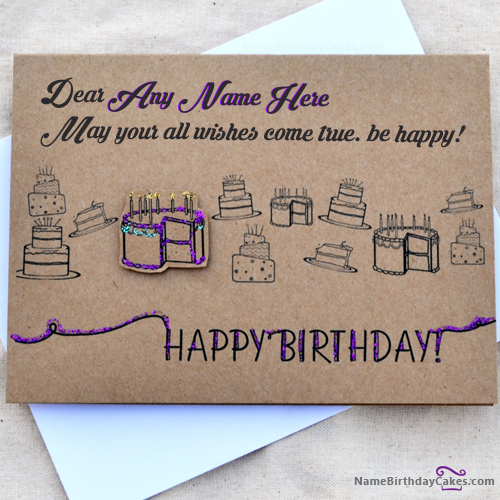 Write name on Crazy Birthday Card for Friend Happy Birthday – Write in Birthday Card