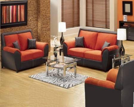 Decoracion de salas peque as color chocolate y naranja for Decoracion de salas pequenas
