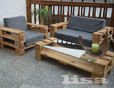 Lounge Gartenmobel 2 Sitzer Palettenmobel Terrasse Vintage Design
