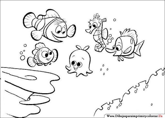 Dibujos De Buscando A Nemo Para Imprimir Y Colorear