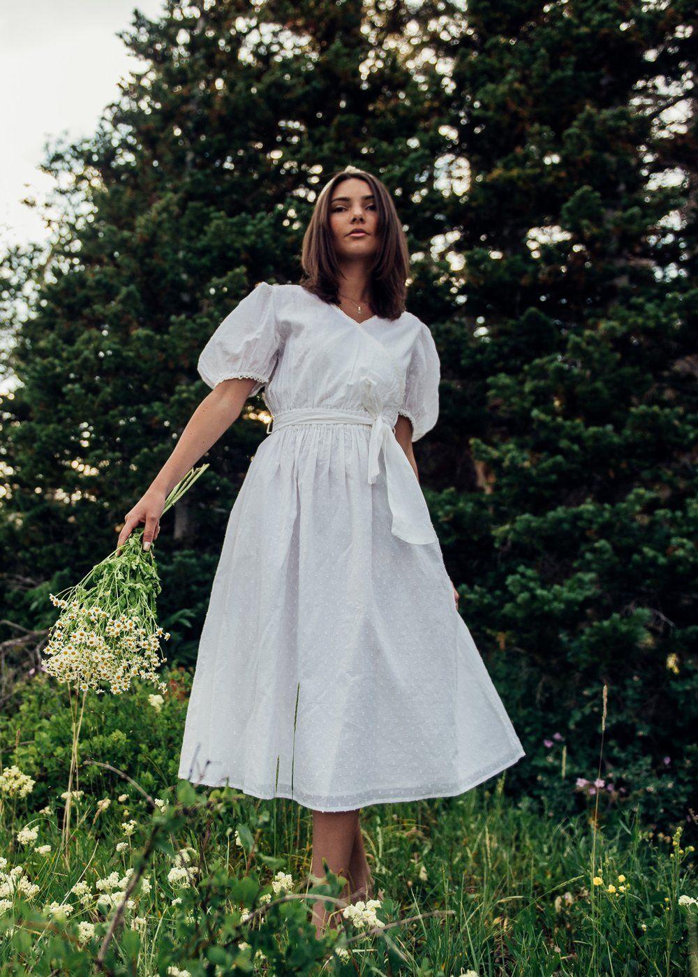 Sowerby Swiss Dot Dress Dresses White Flowy Dress Pre Debut Photoshoot [ 1399 x 1000 Pixel ]