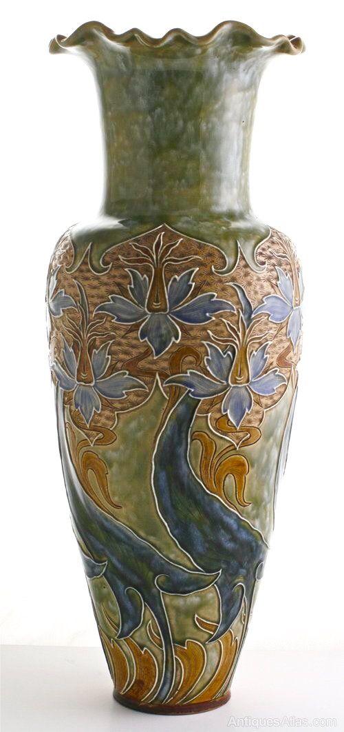 Antiques Atlas Doulton Lambeth Very Large Vase By Eliza Simmance