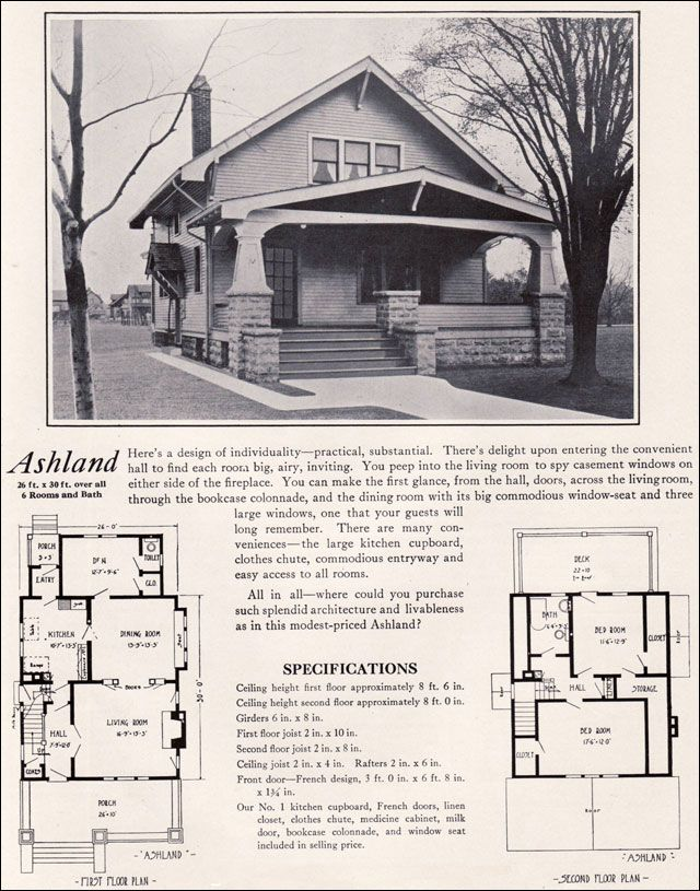 Bungalow craftsman house plans 1920s for 1920 house plans