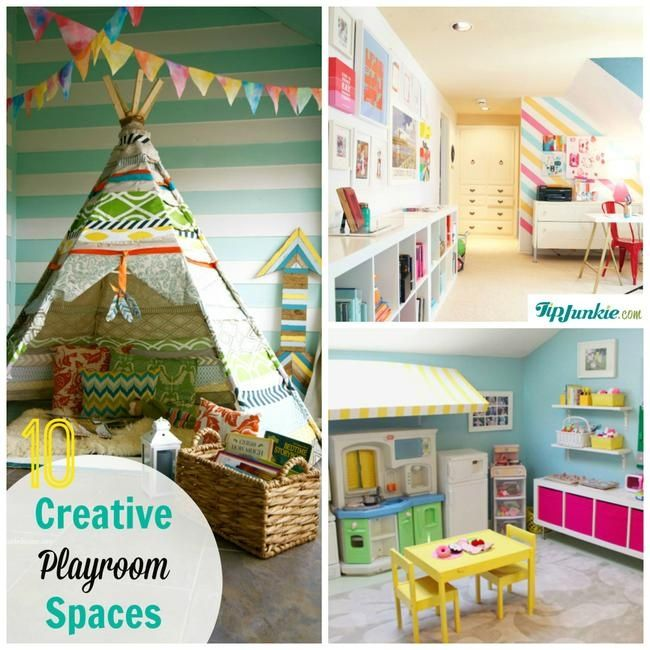 10 Creative Examples For Dividing Small Spaces: 10 Easy And Creative Playroom Spaces