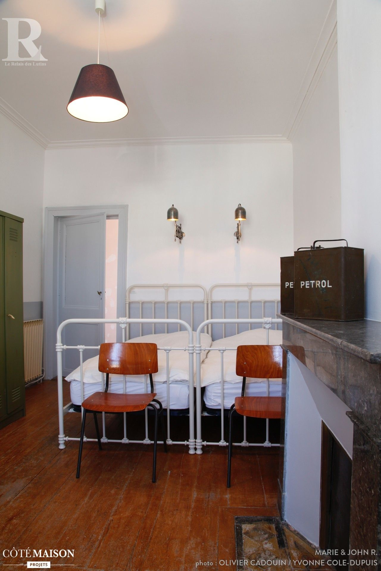 Before / after my old inn renovated with a vintage-chic style, Marie & amp; John R. - Side House