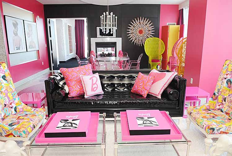 hot pink and black looks good with some pops of yellow or some other ...
