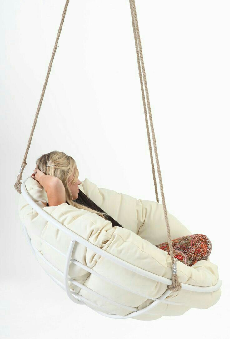 Diy Hang A Papasan Chair In Her Room Diy Hanging Chair Bedroom Hanging Chair Indoor Hanging Chair