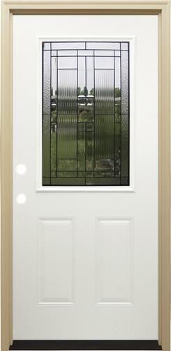 Mastercraft La 656 Primed Steel Half Lite Prehung Exterior Door At
