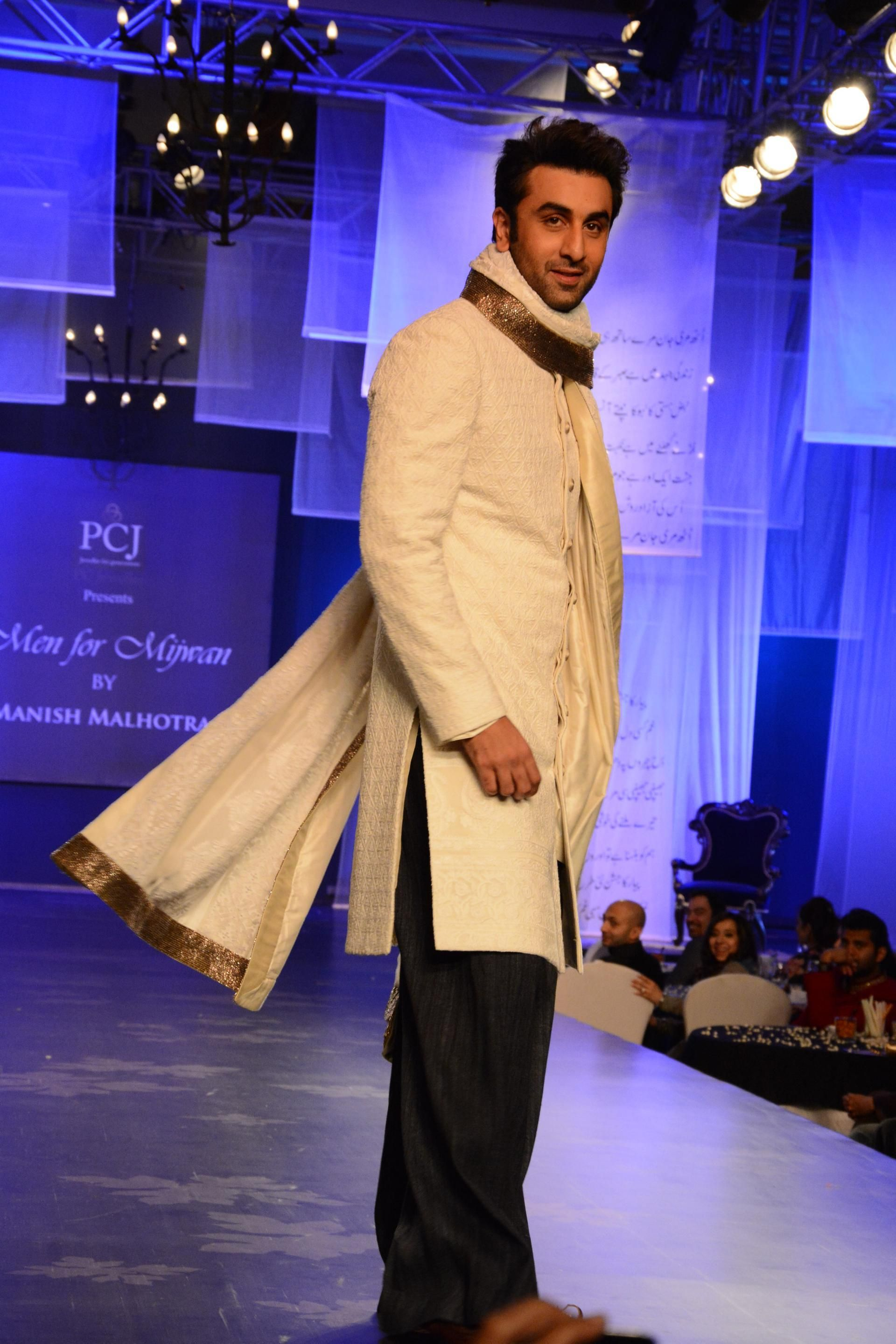 Ranbir kapoor during men for mijwan fashion show at grand hyatt in