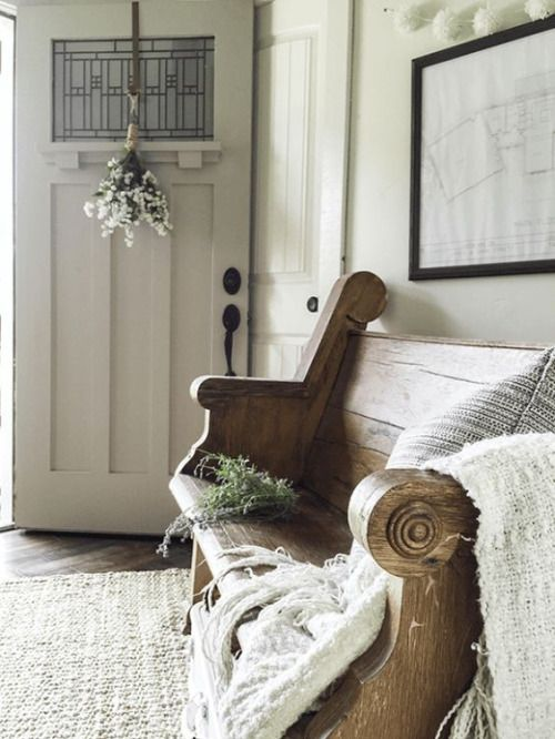 Love The Idea Of Using A Church Pew As An Entryway Or Dining Room Bench