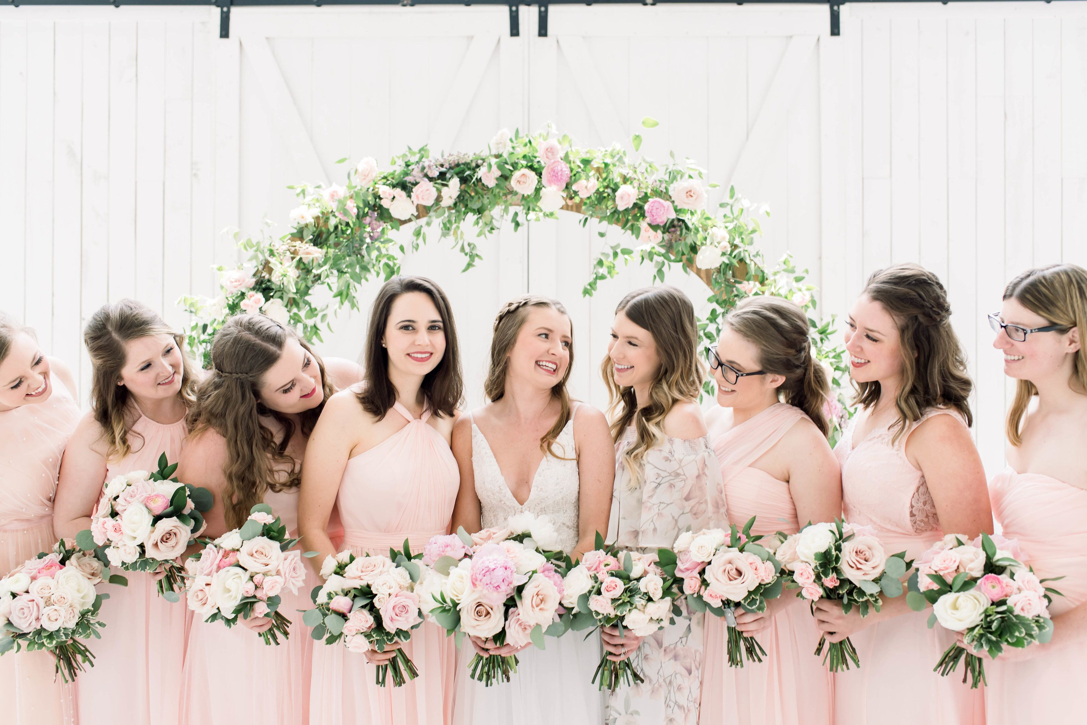 Blush And White Wedding At The White Sparrow In Dallas Texas