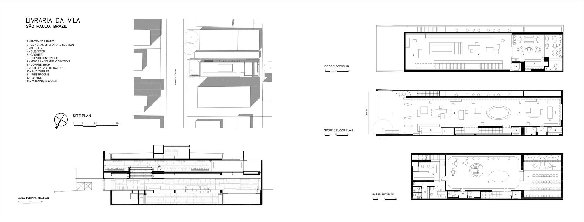 00a8759b6 Livraria da Vila - Issay Weinfeld - Drawings - plans and section ...