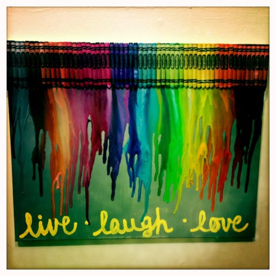 my version of the crayon art!